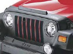 97 jeep wrangler se front end cover black with jeep logo wrangler front end cover