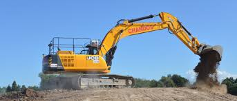 chandos takes flight with jcb excavatordiggers and dozers