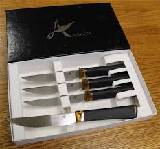 Ontario Kitchen Knives by New Ontario Agilite 4 Piece Serrated Steak Knife Cutlery Set