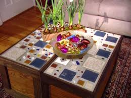Diy Mosaic Table Hand Made Mixed Wood Mosaic End Grain Top Coffee Table By Fast