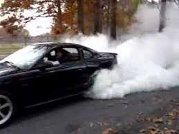 1995 Mustang Black Black 95 Mustang Burnout Youtube