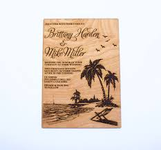 Nautical Save The Date Beach Wooden Invitations Tropical Nautical Palm Tree Tropical