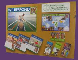 start a pws d display board in your church presbyterian world