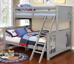 marlie gray extra long twin over queen bunk bed
