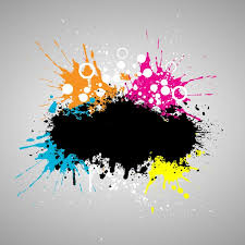 grunge style paint background vector free download