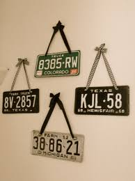 my license plate collection each one has special meaning to me