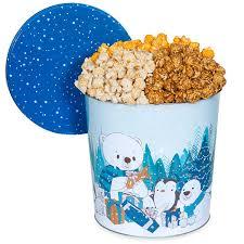 let it snow popcorn tin by kingofpop