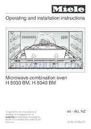 user u0027s manual for microwaves miele microwave oven h 5040 bm