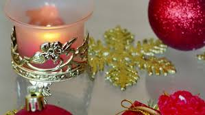 beautiful ornaments and candles as a new year decoration new year