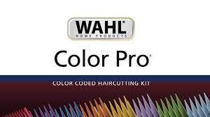 wahl corded color pro color coded haircut hair clipper kit 20 pc