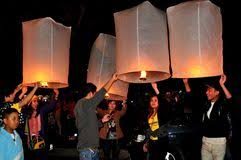 luck lanterns chiang mai thailand lighting paper lanterns editorial photography