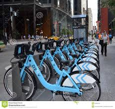 divvy chicago map divvy bike rental station in downtown chicago editorial photo