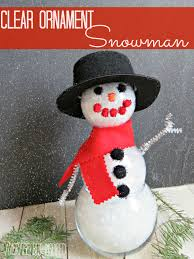 december diy challenge a clear ornament snowman