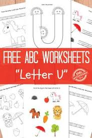 free printable letter u tracing worksheets for preschool free