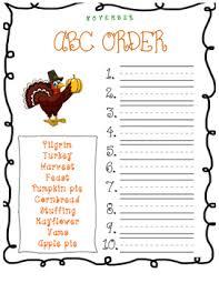 abc order thanksgiving words for november by gordon tpt