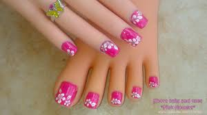 19 flower nail designs for short nails flower nail designs