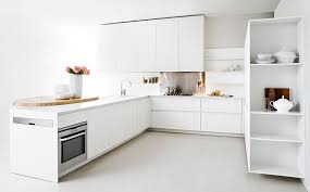 All White Kitchen Designs by Modern Kitchen With Space Saving Solutions Design Ideas