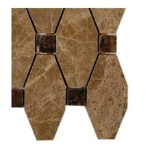 Tiles At Home Depot On Sale by Splashback Tile Artois Hexagon Emperador Marble Mosaic Floor And