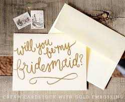 will you be my bridesmaid invite glitter and opaque embossed handwritten calligraphy bridal party