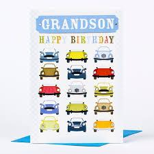 birthday card car print grandson only 99p