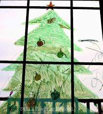window marker christmas tree for kids still playing