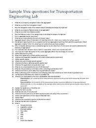 design lab viva questions download viva questions for transportation engineering lab