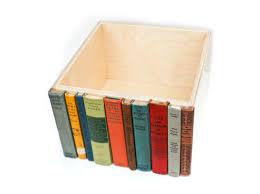 Bedroom Unique Storage Bins Design With Arranged Book Decoration