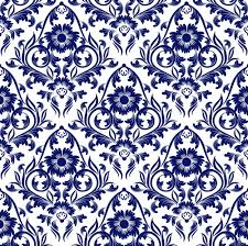 blue floral ornaments pattern seamless vector vector floral