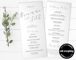 ceremony order for wedding programs ceremony program etsy