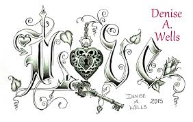 love lock tattoo design by denise a wells