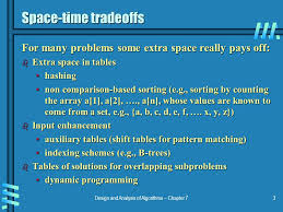 pattern matching algorithm in data structure using c design and analysis of algorithms chapter 71 space time tradeoffs