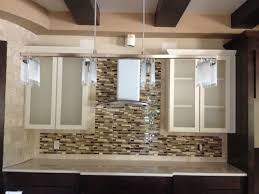Kitchen Cabinet Doors With Frosted Glass by Kitchen Astonishing Brown Sectional Tiles Backsplash And White