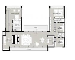 u shaped home design plan luxihome