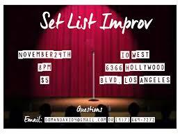 set list improv mr richmond presents u2013 tickets u2013 the main stage