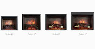 Realistic Electric Fireplace Insert by Western 30 Puraflame