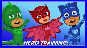 pj masks hero training game disney junior app kids