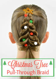 christmas tree pull through braid in hairland