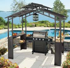 Lighted Music Gazebo by Living Home Outdoors Grill Gazebo With Led Chandelier Bj U0027s