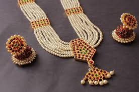beautiful earring necklace set images Buy gorgeous mulitlayer pearl traditional necklace set dj17147 jpg