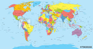 world map by cities world map with countries country and city names buy this stock