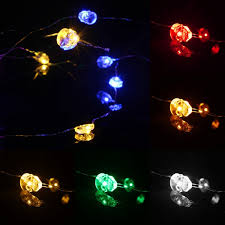 battery powered xmas lights 2m 20 led skull style battery operated xmas string fairy lights