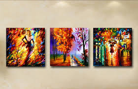 3 pcs abstract landscape figure modern oil canvas painting for