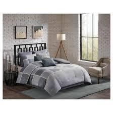 gray herringbone austin comforter set 8pc target
