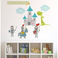 knights and dragon fabric wall stickers wall sticker knight and knights and dragon fabric wall stickers