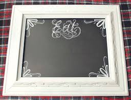 decorations gorgeous square white wooden chalkboard framed