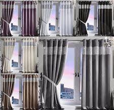 Velvet Blackout Thermal Curtains Diamante Curtains Luxury Curtains Ebay