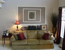 How To Decorate Large Walls by The Living Room Then And Now From Thrifty Decor