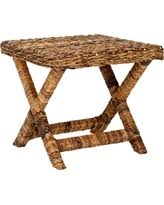 X Side Table Amazing Deal On Savannah White Wicker Side Table
