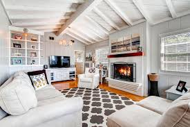 cottage livingrooms cottage living room with exposed beam cathedral ceiling zillow