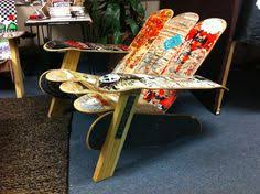 skateboard chairs recycled skateboard office chair for the home pinterest
